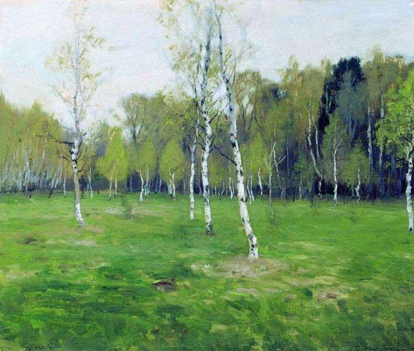 художник Жуковский. В мае