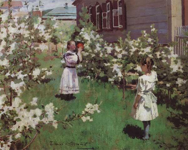 художник Борисов-Мусатов. Майские цветы