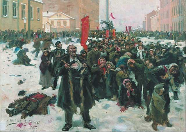 художник Маковский. 9 января 1905 года
