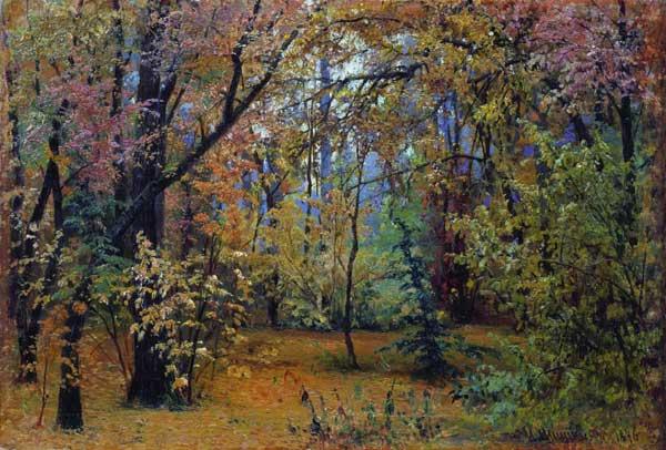 художник Шишкин. Осенний лес