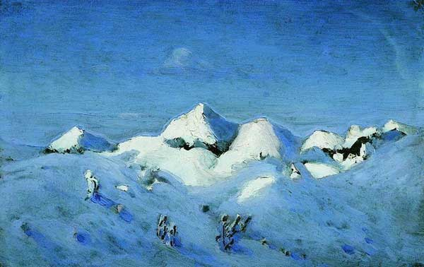 художник Куинджи. Зима