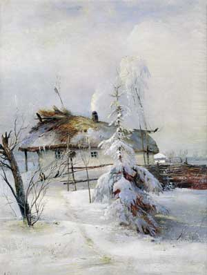 художник Саврасов. Зима