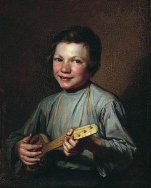 художник Заболотский. Мальчик с балалайкой