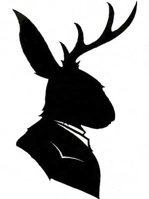 заяц с рогами