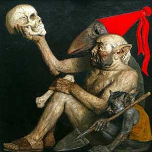советский художник Коржев. Череп предков