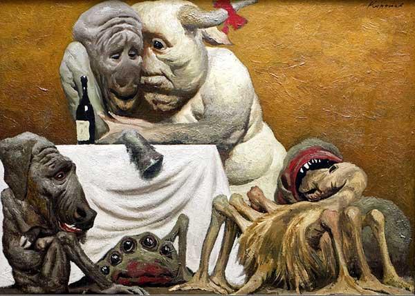 советский художник Коржев. Дружная семья