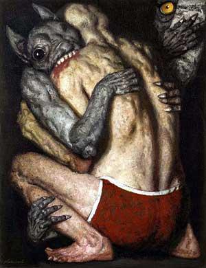 советский художник Коржев. Схватка