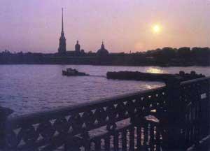 Ленинград вечером